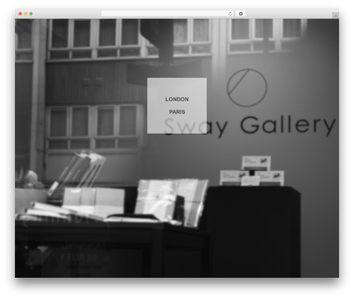 WordPress website template Pinnacle - sway-gallery.com