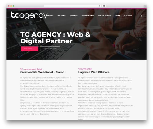 WP theme Pitch - teamcloudagency.com
