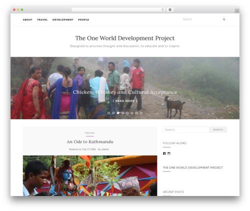 Activello template WordPress free - oneworlddevelopmentproject.com