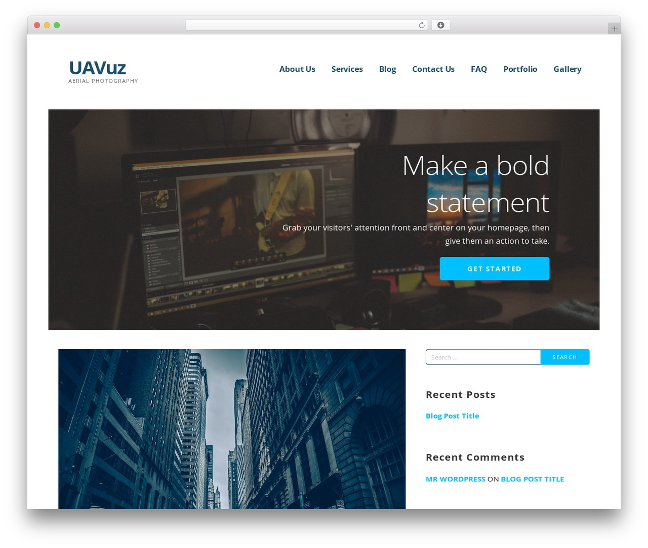 Ascension WordPress page template - uavuz.com