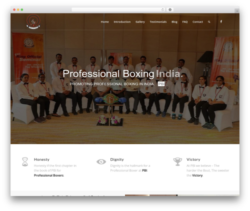 Best WordPress template Enfold - professionalboxingindia.com