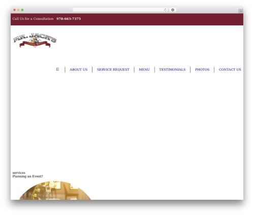 Best WordPress template Royal Event - mrjackscatering.com