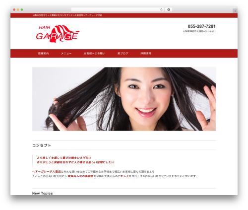 Black Studio WordPress theme - hair1107.com