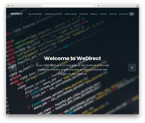 Businessx free website theme - wedirect.com