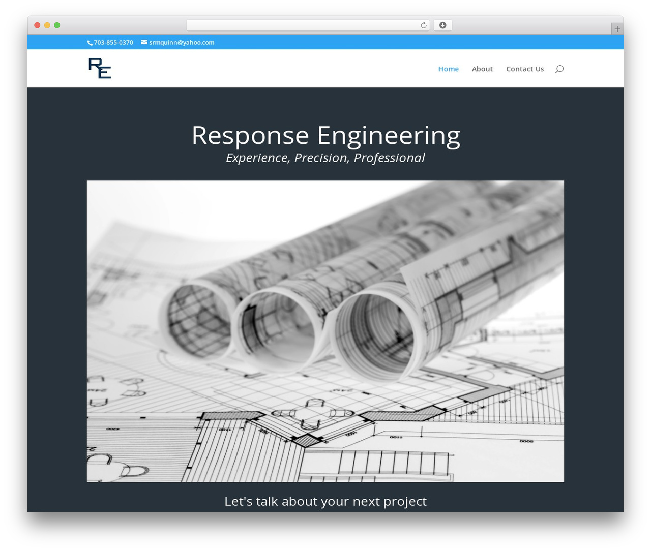 Divi WordPress theme - responseengineering.com