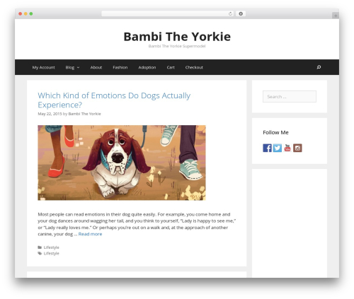 GeneratePress WordPress theme - bambitheyorkie.com