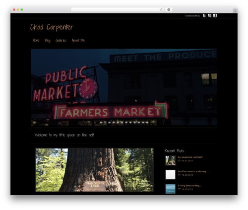 Modular WordPress theme image - chadmcarpenter.com