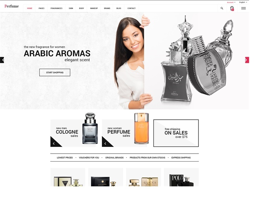 Perfume WordPress theme