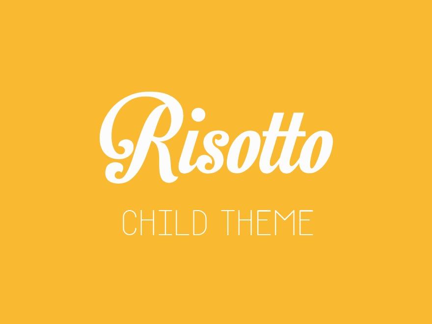 Risotto Child template WordPress