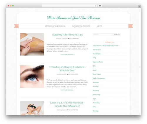 Sugar and Spice best WordPress template - hairremovaljustforwomen.com