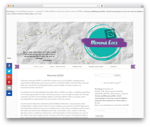 WordPress theme Sugar and Spice - mommagoes.com