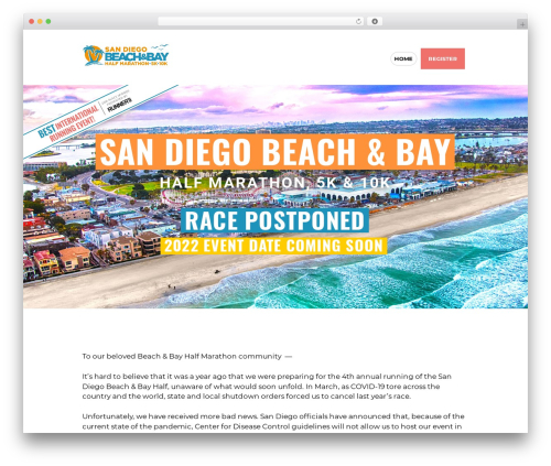 WP theme RunCrew - sandiegobeachandbayhalfmarathon.com