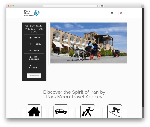 Betheme WordPress travel theme - parsmoontravel.com