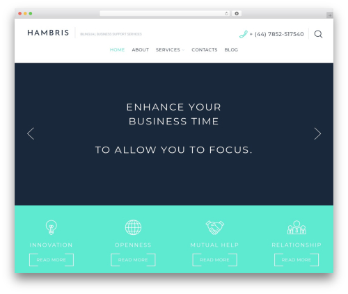 Cherry Framework WordPress template for business - hambris.com