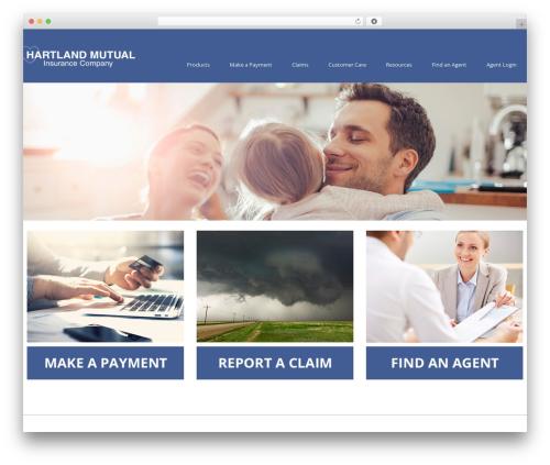 cherry WordPress template for business - hartlandmutual.com