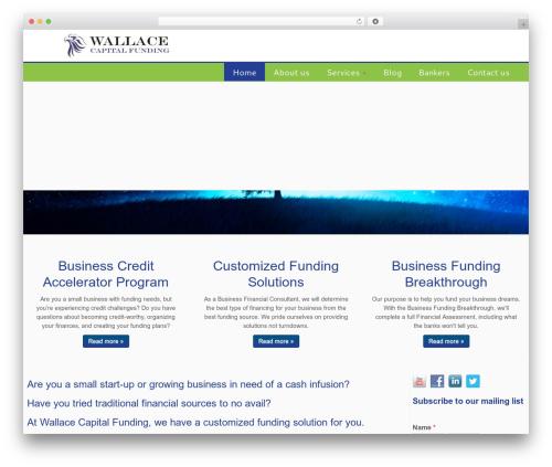 Customizr template WordPress free - wallacecapitalfunding.com