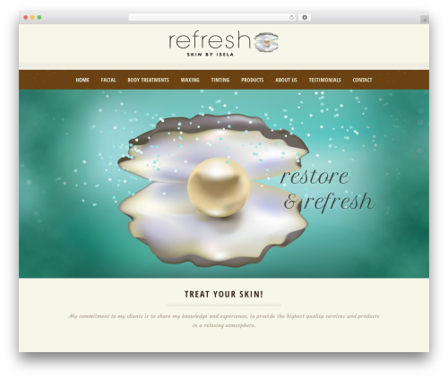 Dream Spa WordPress theme - refreshskinbyisela.com