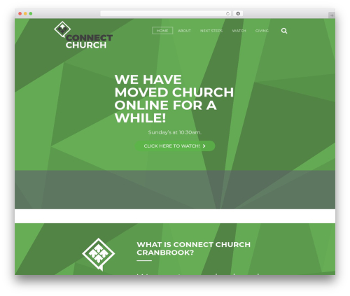 Grace-church WordPress theme - connectcranbrook.com