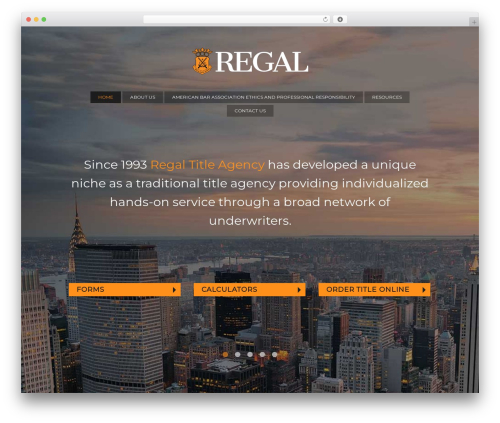 Regal WordPress theme - regalnyc.com