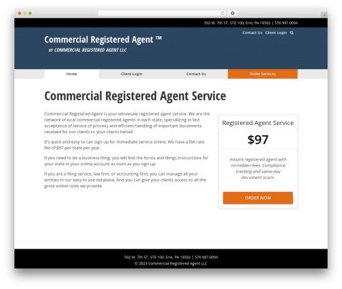 The Theme top WordPress theme - commercialregisteredagent.com
