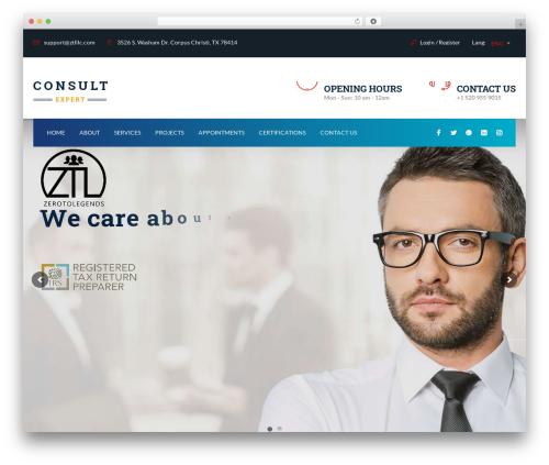 WordPress theme Consult - ztlllc.com