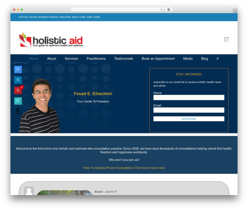 Avada best WordPress template - holisticaid.com