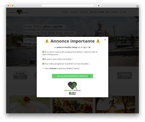Best WordPress template neve - healthyteamy.com