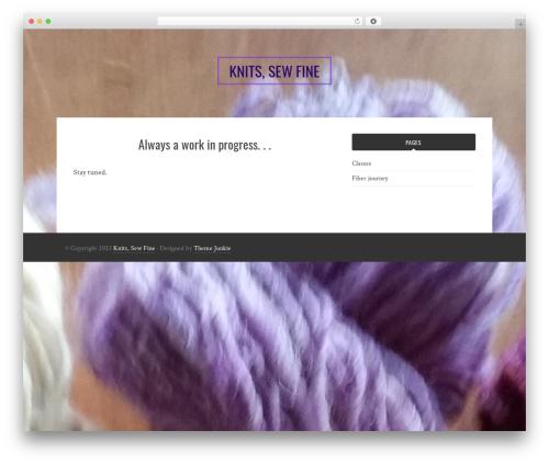 Bulan free WordPress theme - knitssewfine.com