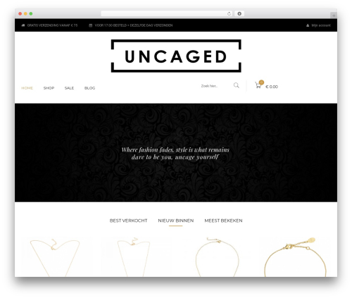 Kute Boutique fashion WordPress theme - uncaged-clothing.com