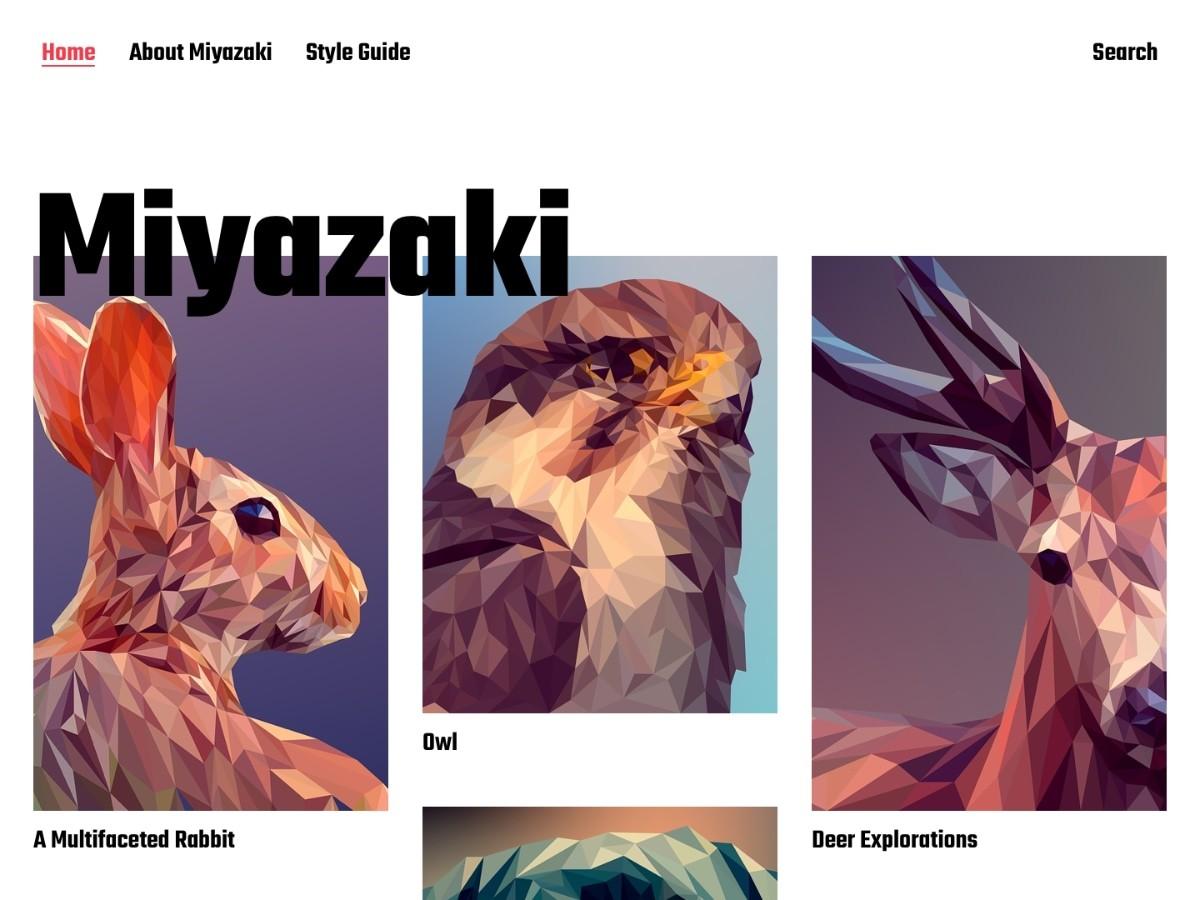 MIYAZAKI WordPress theme