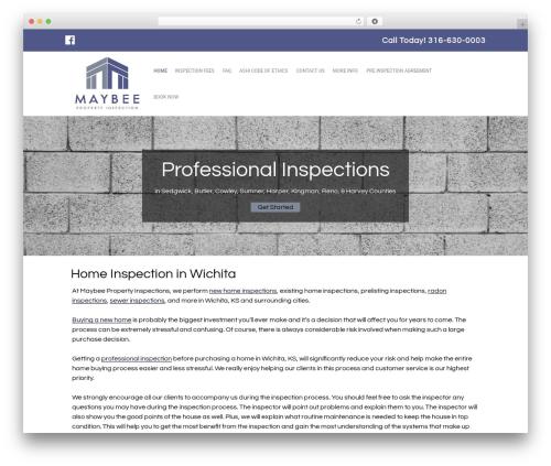 Small Business Blueprint Theme business WordPress theme - maybeeinspections.com