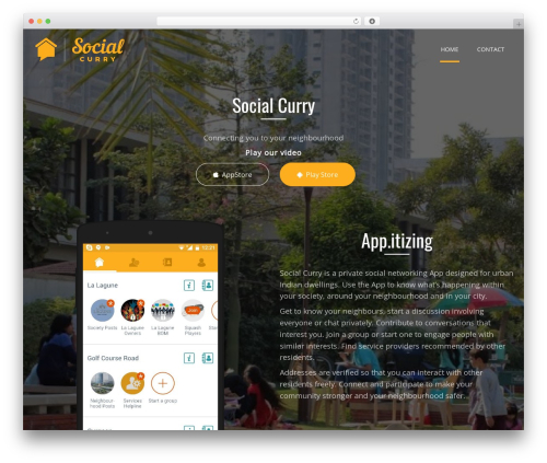 Applay WP template - socialcurry.com