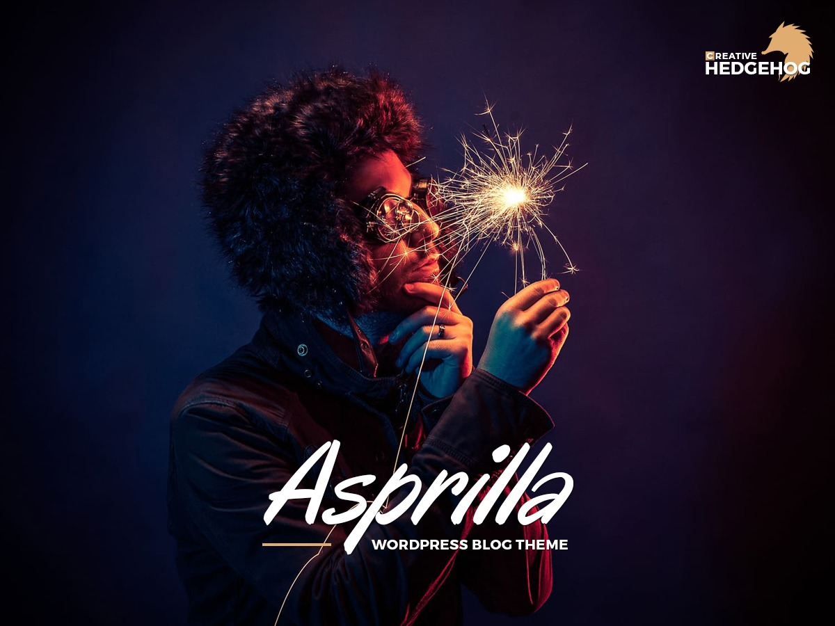 Asprilla WordPress blog template