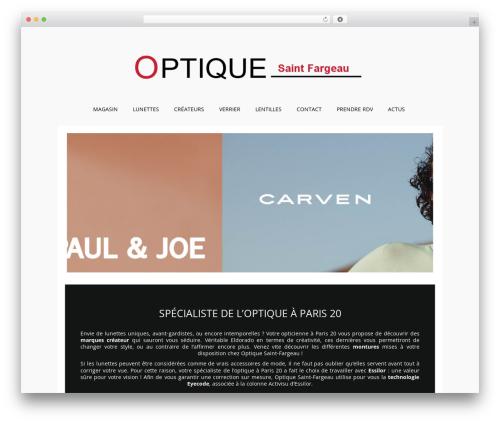 Auxane Opticiens WordPress template - optique-saintfargeau.com