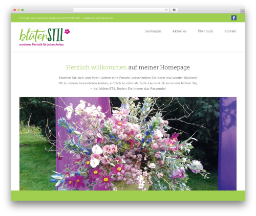 Avada WordPress theme design - bluetenstil-floristik.com