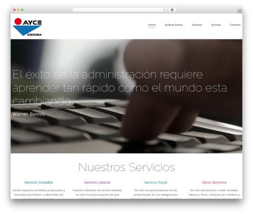 cherry WordPress website template - asesoriaayce.com