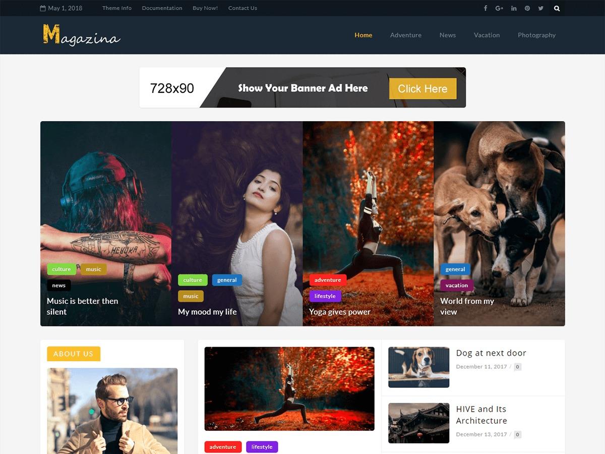 MagazinA WordPress news template