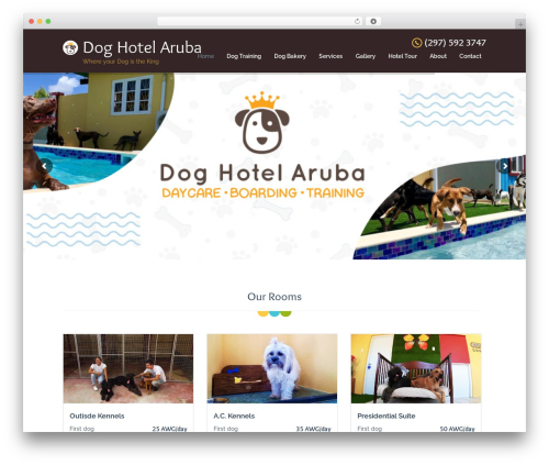 Pet WordPress hotel theme - doghotelaruba.com