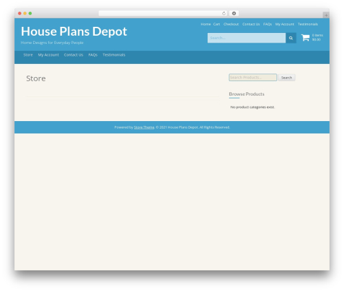 Store premium WordPress theme - houseplansdepot.com