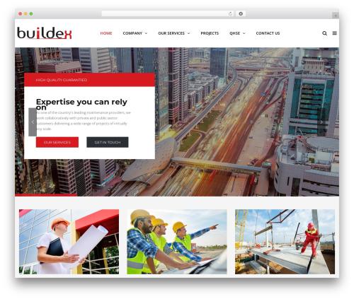 TheBuilt WordPress theme - buildexm.com