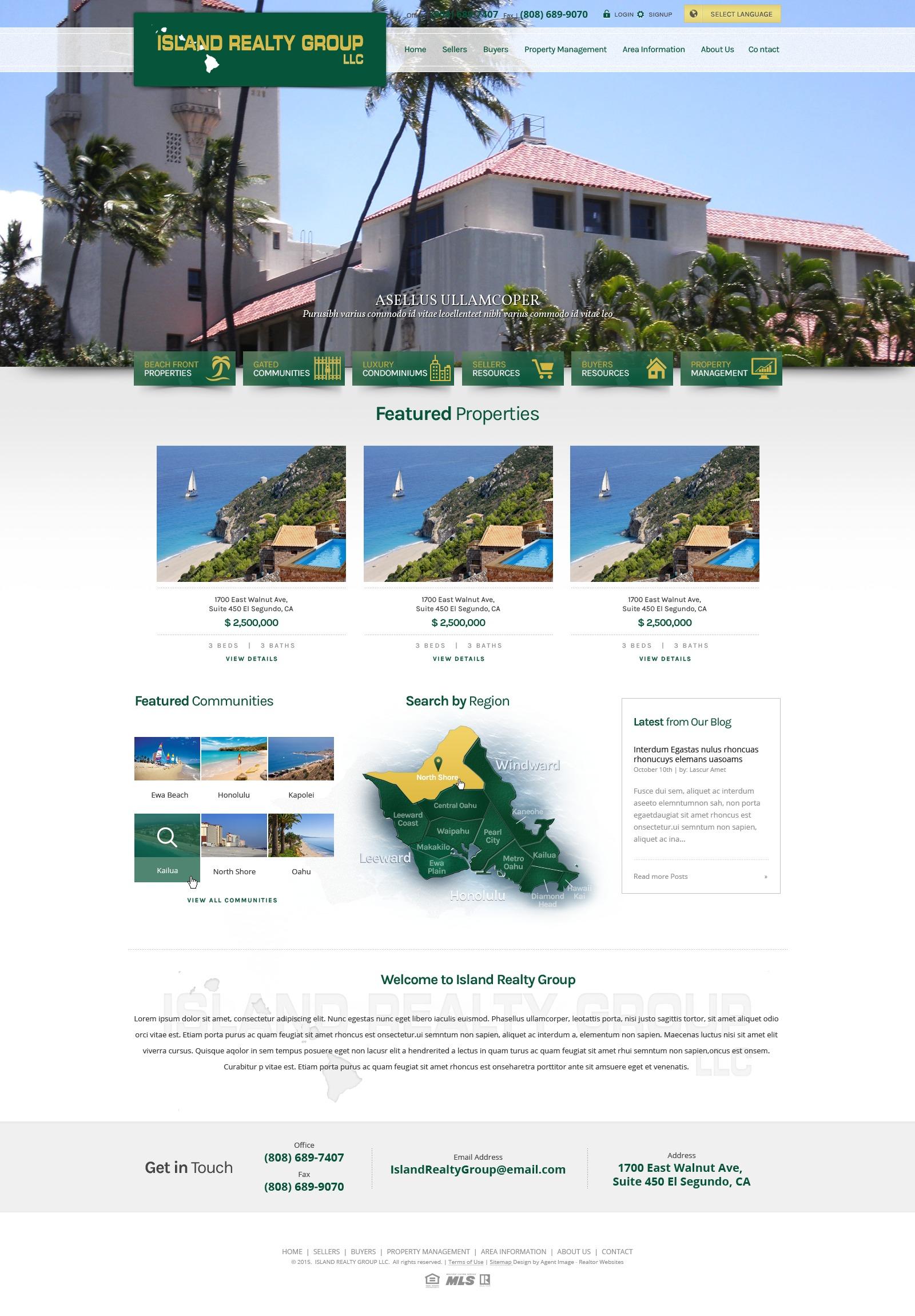 Theme WordPress Island Realty Group Hawaii - Semi Custom