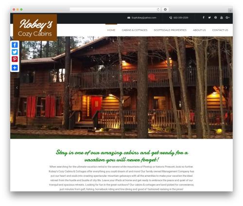 WordPress theme Dreamland - northernarizonacabinrentals.com