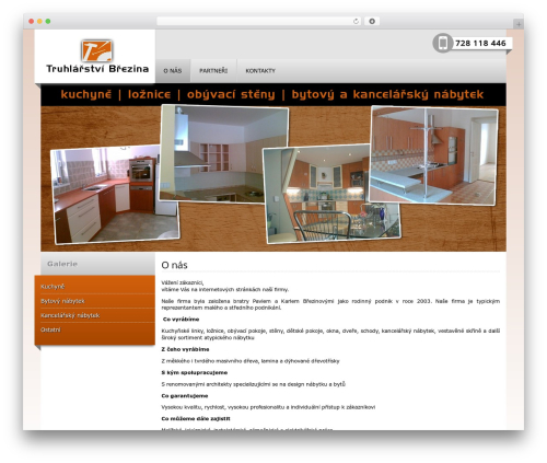 Absolutne Template - menu header + menu left children theme WordPress - truhlarstvi-brezina.cz