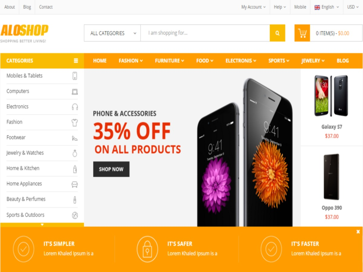 Aloshop WordPress shop theme