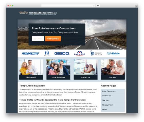 Aperture top WordPress theme - tempeautoinsurance.com
