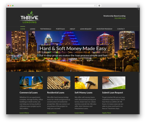 Avada WordPress theme - thrive-lending.com