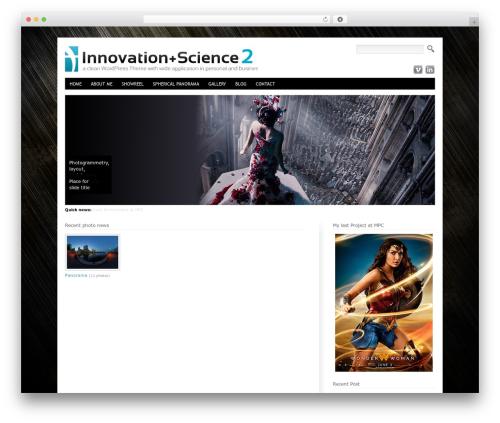 Best WordPress theme Innovation Science Wordpress Theme - thierryhamel.com