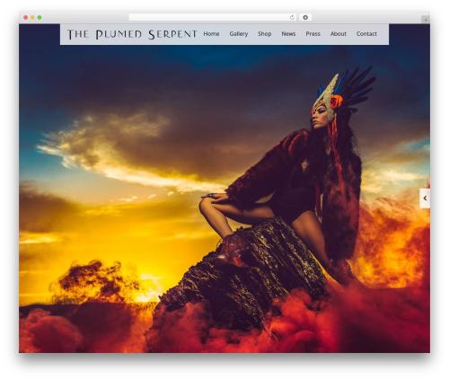 Black Label WordPress website template - theplumedserpent.net