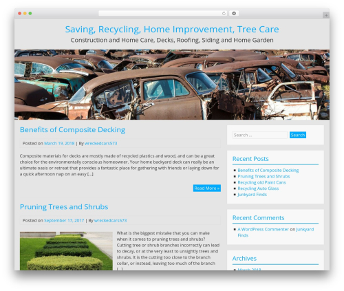 BlueGray WordPress free download - toddswreckedcars.com