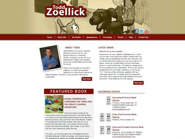 Custom Todd Zoellick Theme WordPress theme design